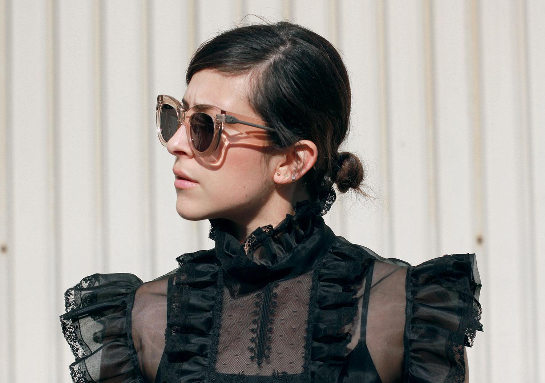 Céline Caty lucite sunglasses