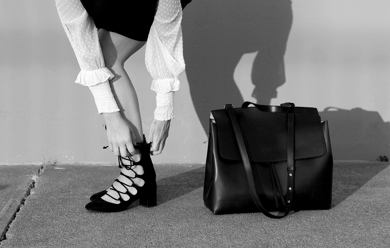 Mansur Gavriel Lady Bag in Black Ballerina