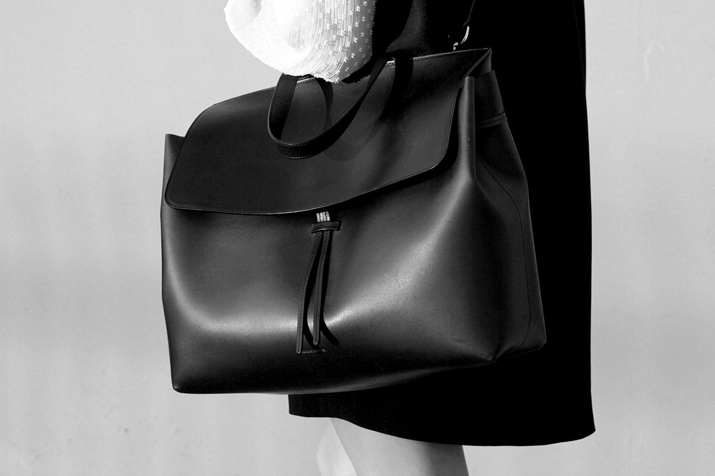 Mansur Gavriel Black Lady Bag in Large