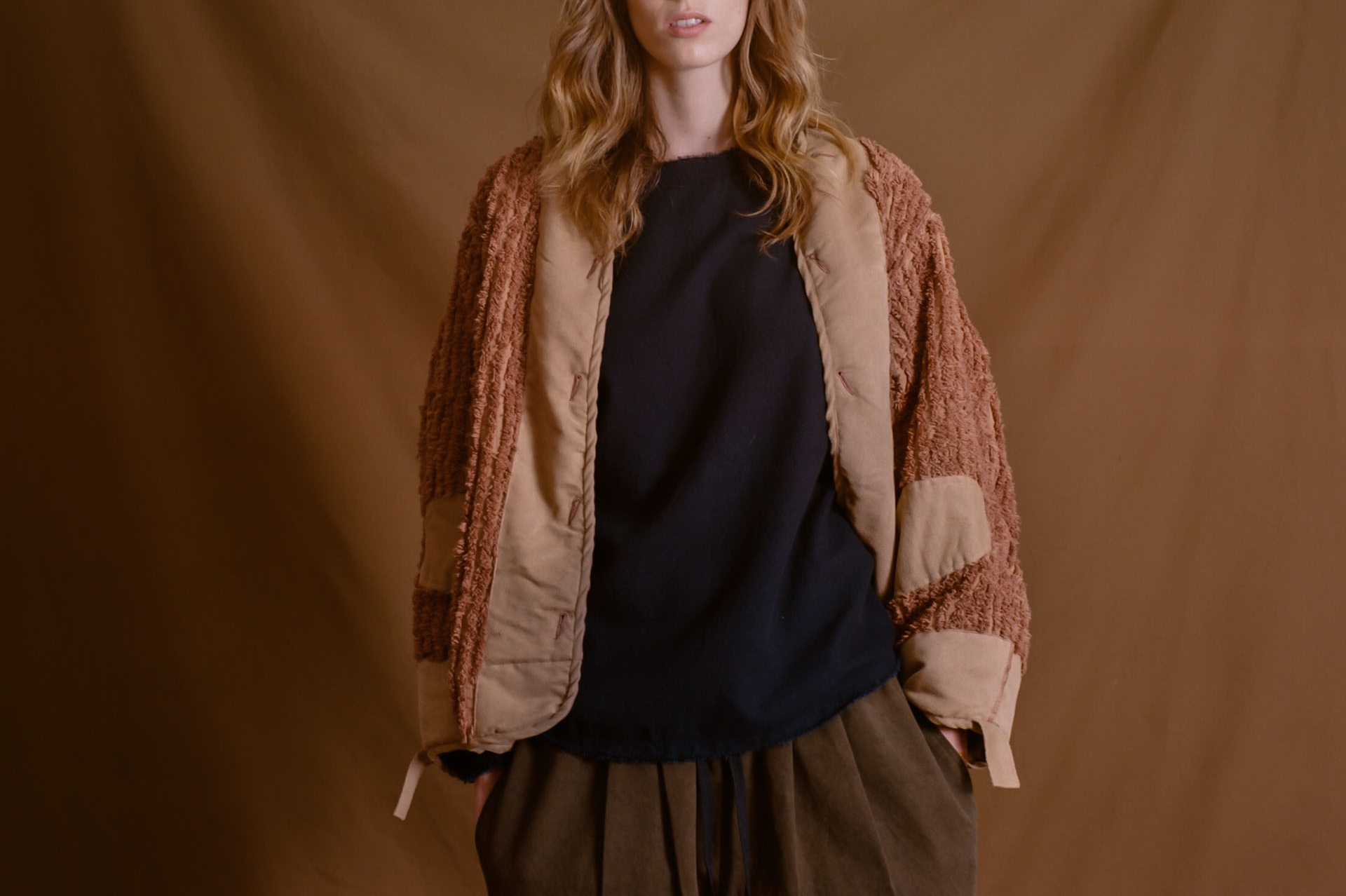 The Namche Bazaar fuzzy rose jacket