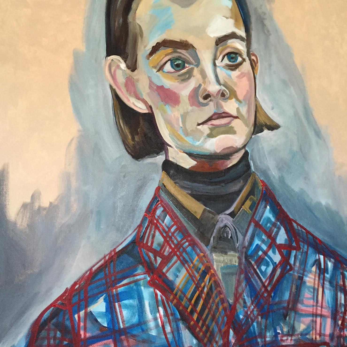 Olga Montserrat painting, Prada WIP