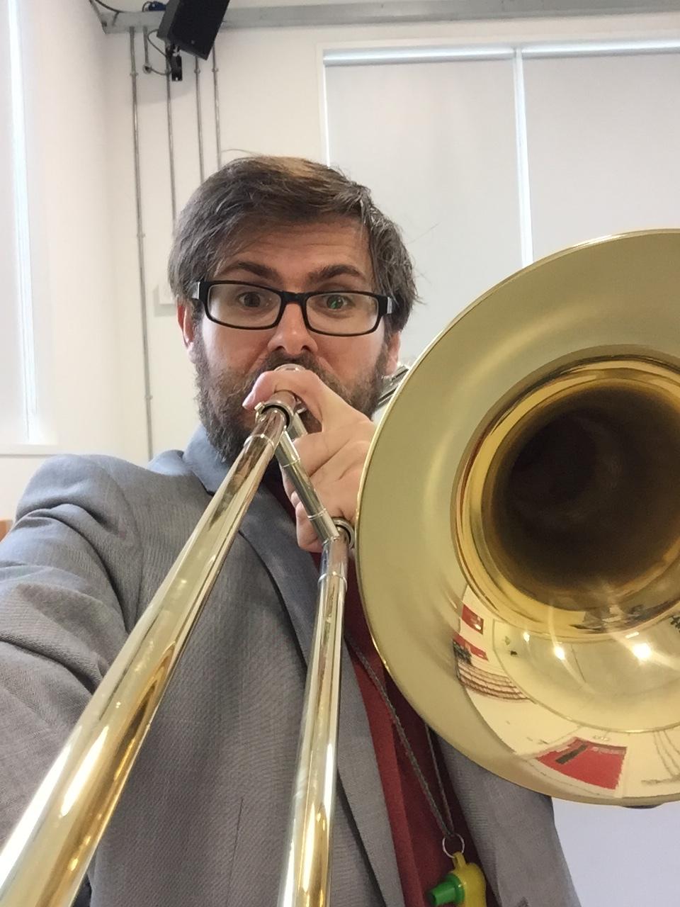 Scott Bramley teaching trombone