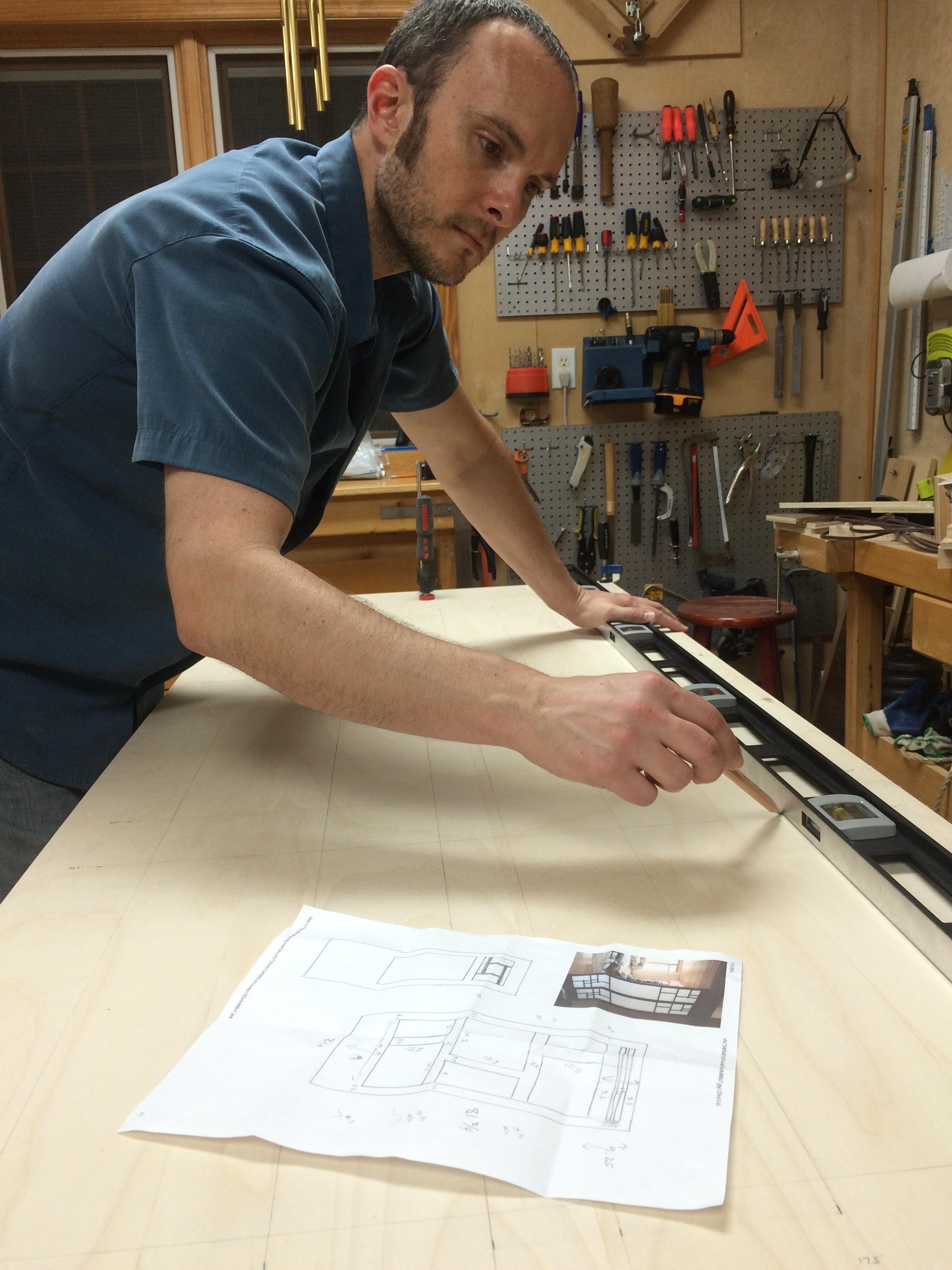 Shoji door purebond plywood-1b