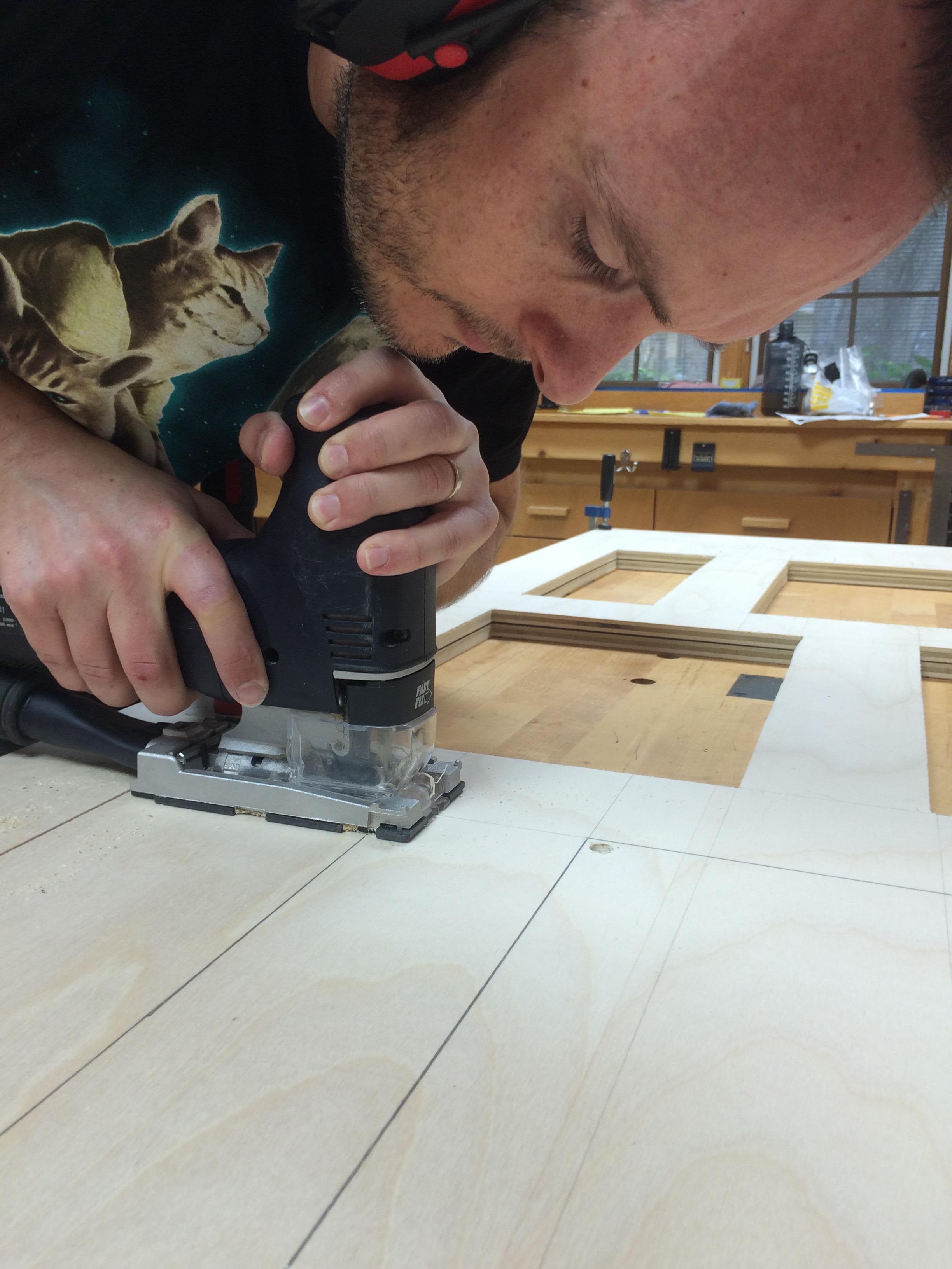 Shoji door purebond plywood-2a