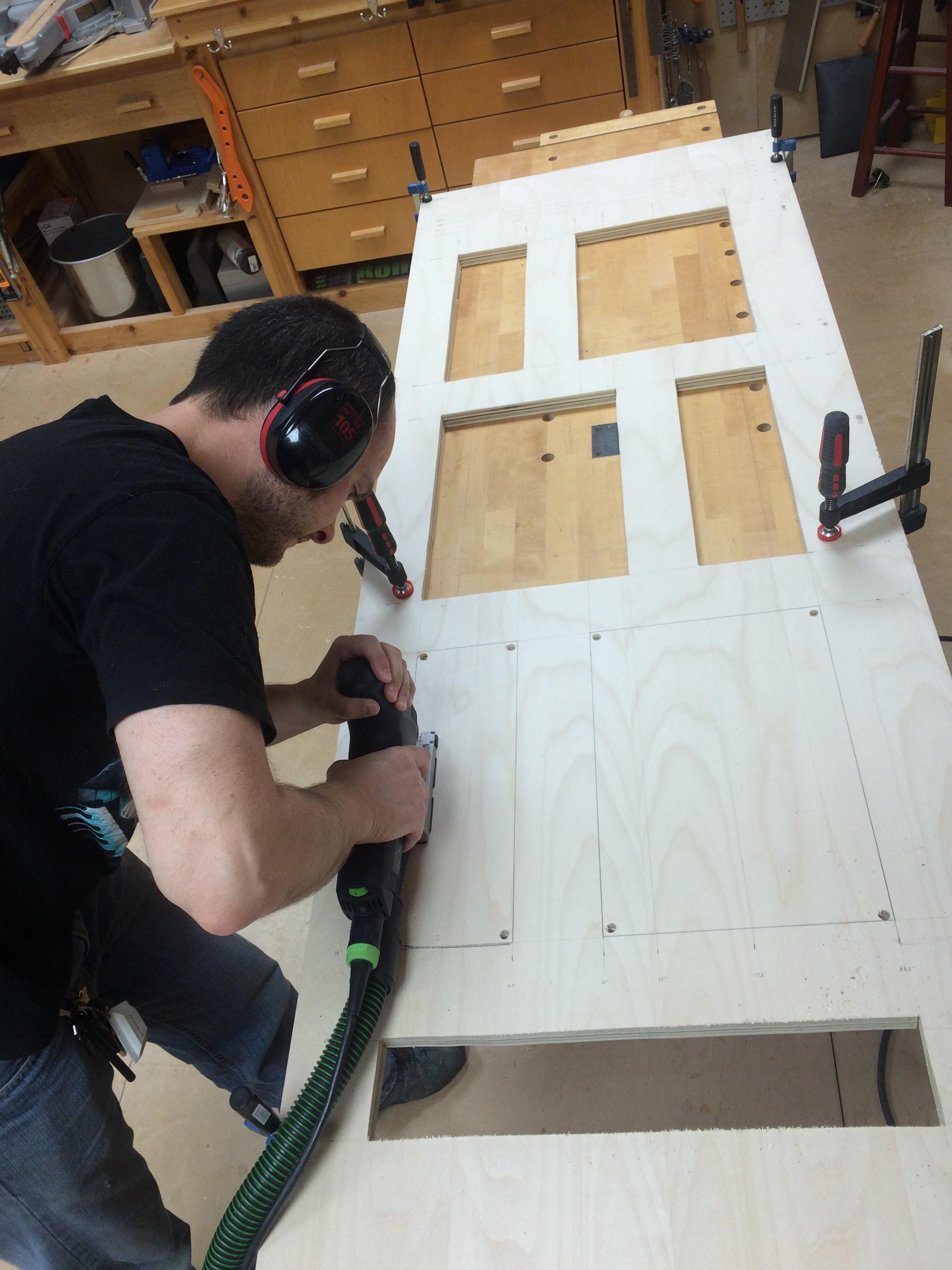 Shoji door purebond plywood-2b