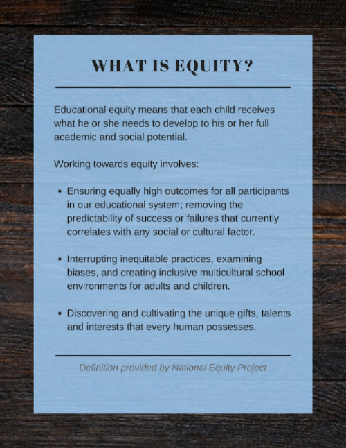 This definition of educational equity has been meaningful to our team as we explore how mastery and CRE together can create more equitable learning for young people.