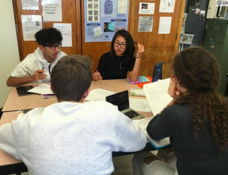 Students at Staten Island Tech HS dig into a collaborative science task