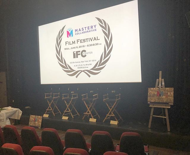 Behind the scenes of the first ever Mastery Collaborative Film Festival @ifccenter! We've partnered with @awakestorytelling to document the amazing work of our community. Honored to have this community of schools dedicated to this work! We're nothing without you! #MasteryNYC #StudentVoice