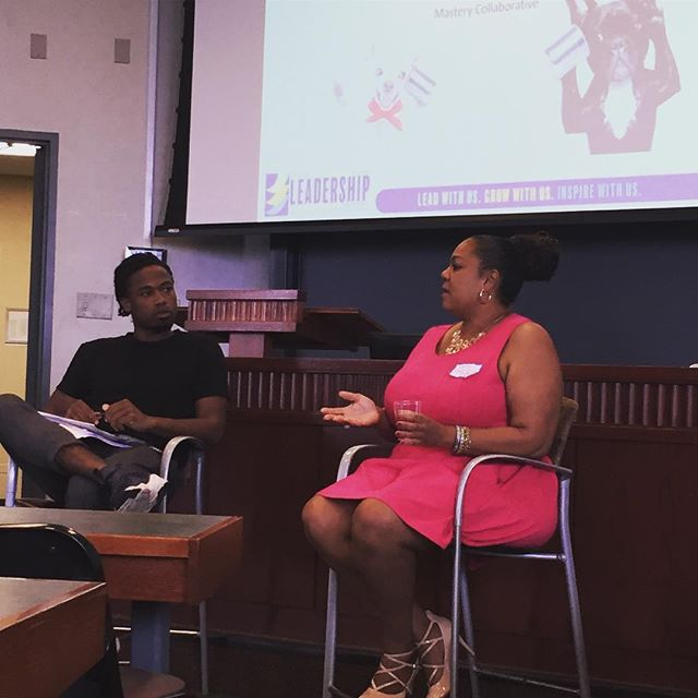 """""""The world is changed by young people."""" -Lonice Eversley shares her expertise in building students' agency during today's shop talk #culturallyresponsiveteaching #masterynyc"""