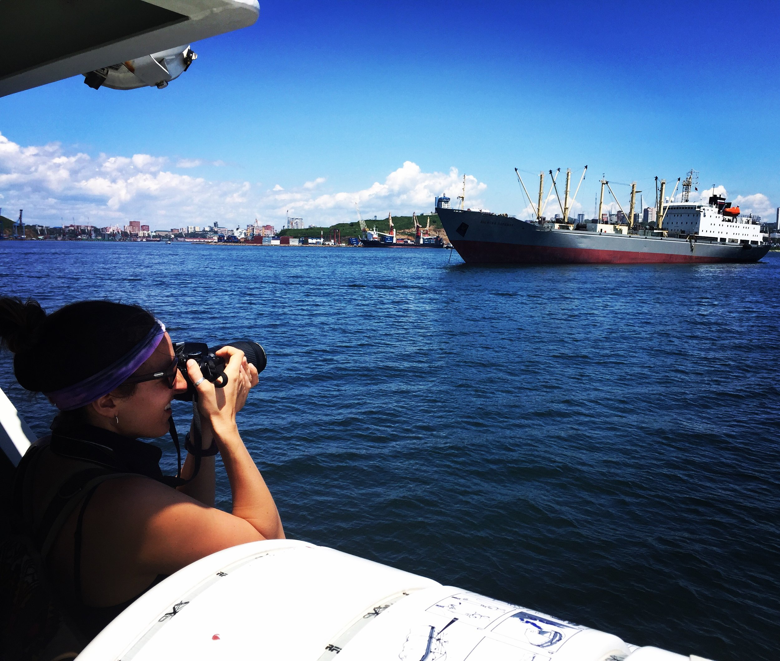 Photographing in Vladivostok