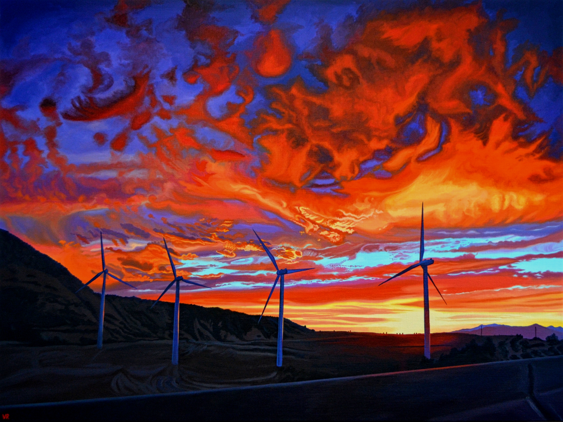 Quixote's Freeway    42 x 55    acrylic on canvas