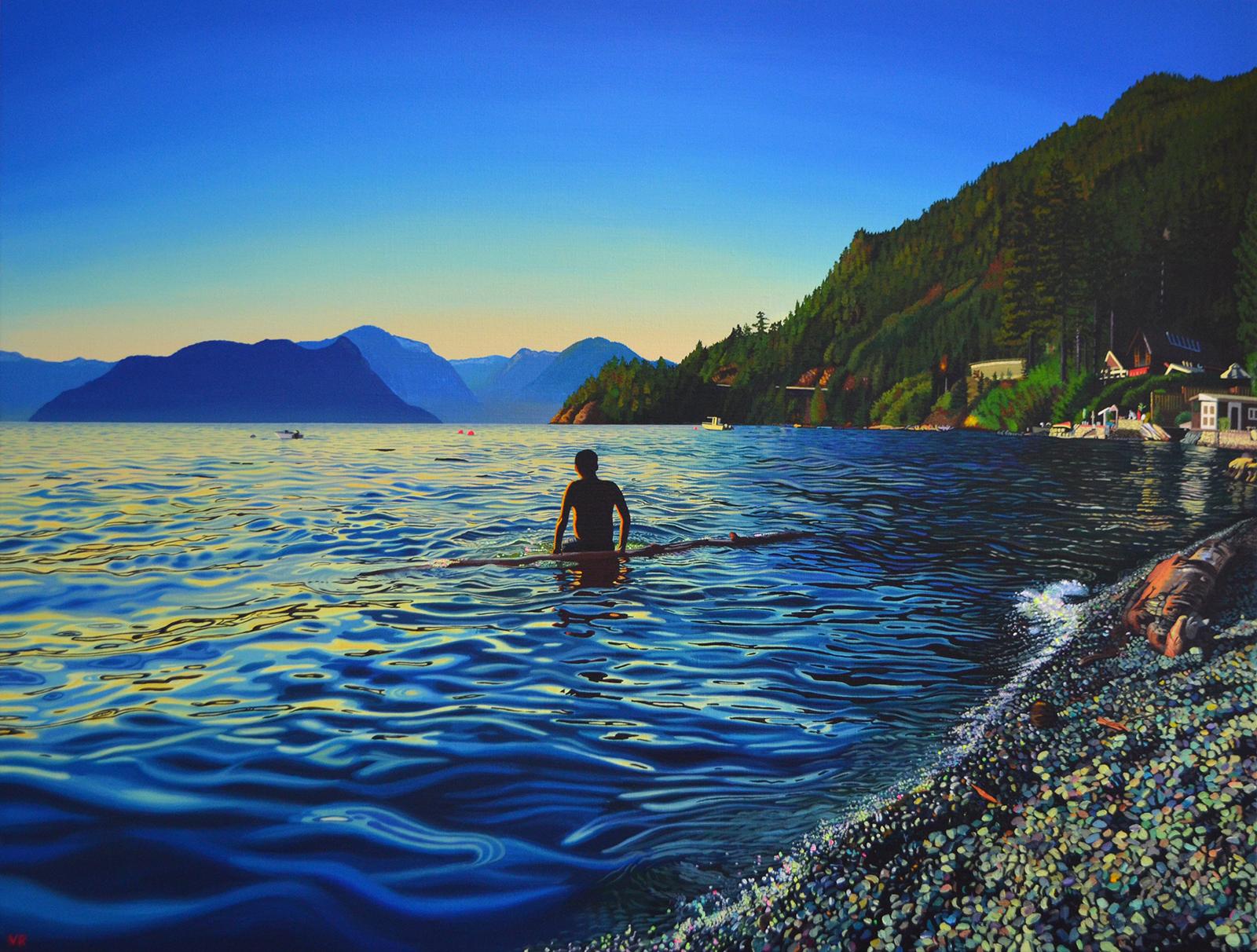 Save Howe Sound    37 x 49    acrylic on canvas