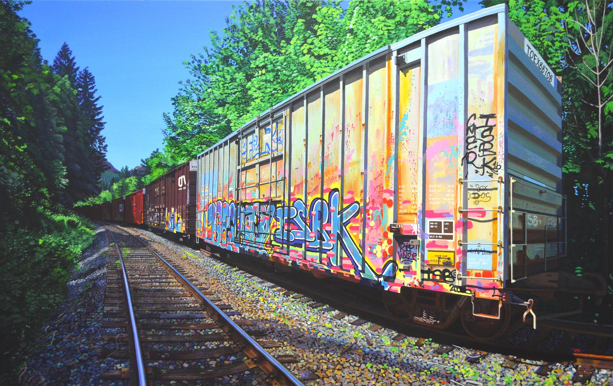 Rainbow's End    37 x 59    acrylic on canvas
