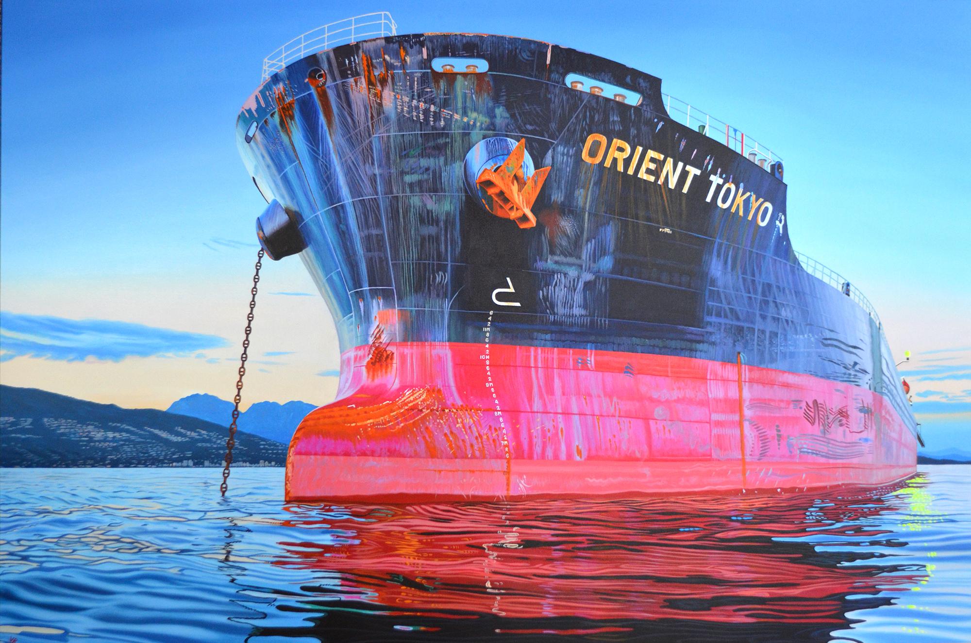 Orient Tokyo    40 x 60    acrylic on canvas