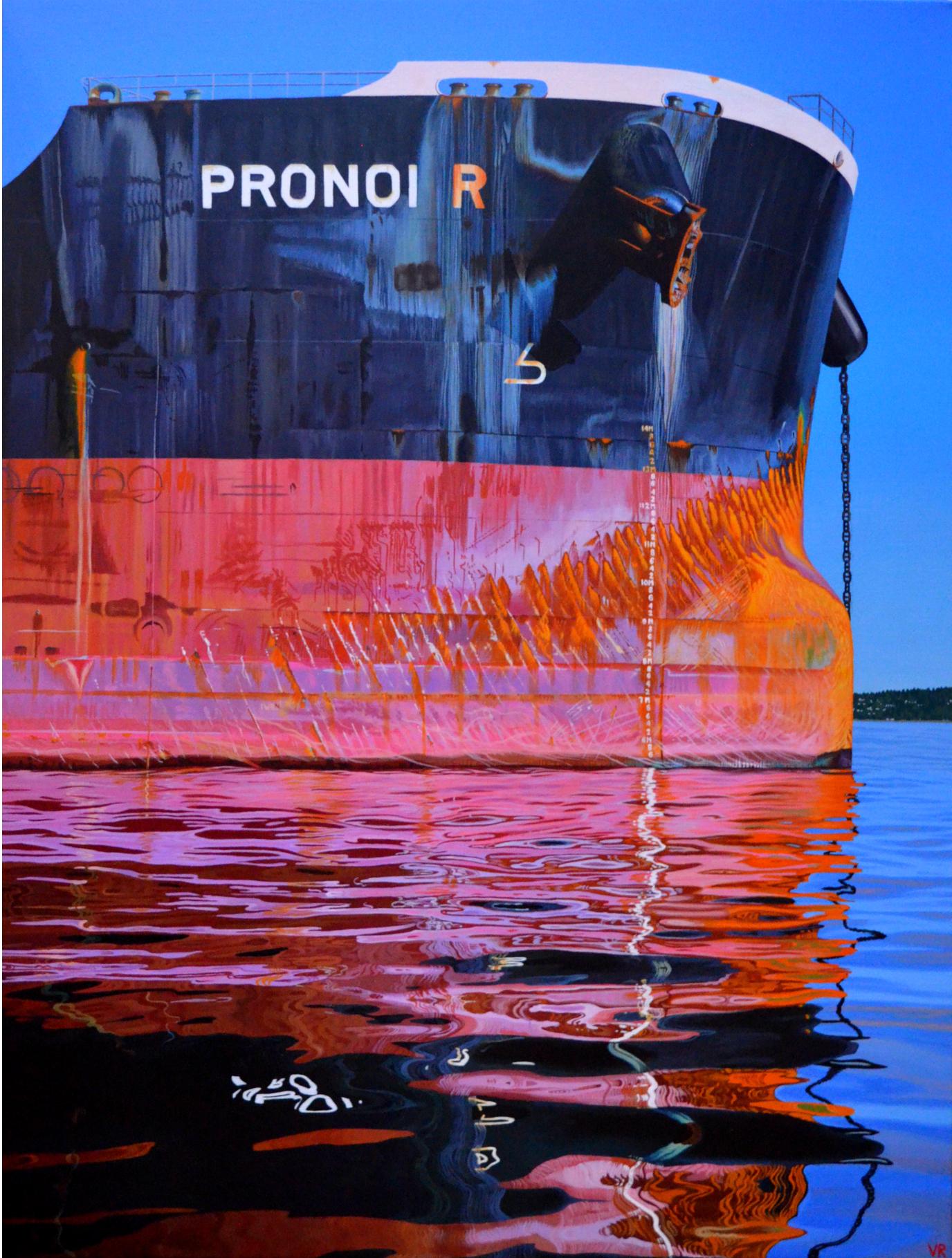 Pronoi R    48 x 36    acrylic on canvas