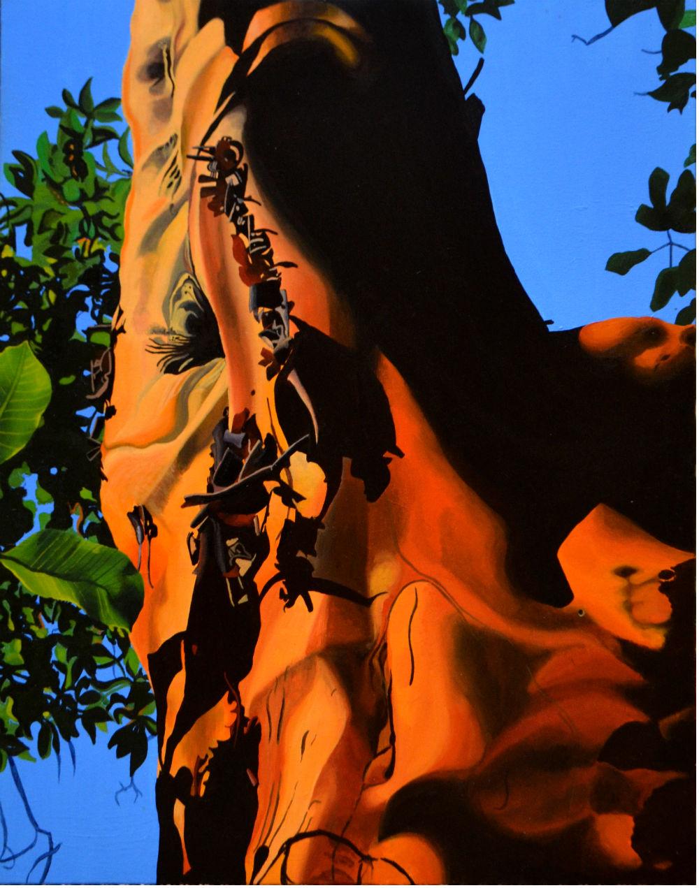 Arbutus I    28 x 21    acrylic on canvas