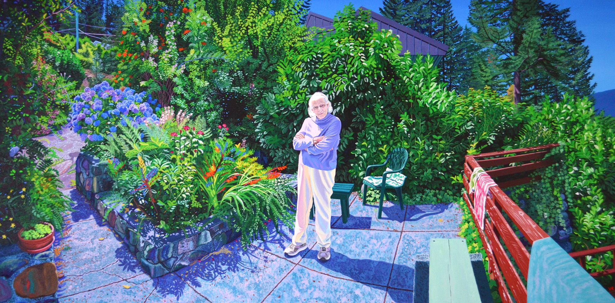 Farmor (Father's Mother)    30 x 60    acrylic on canvas
