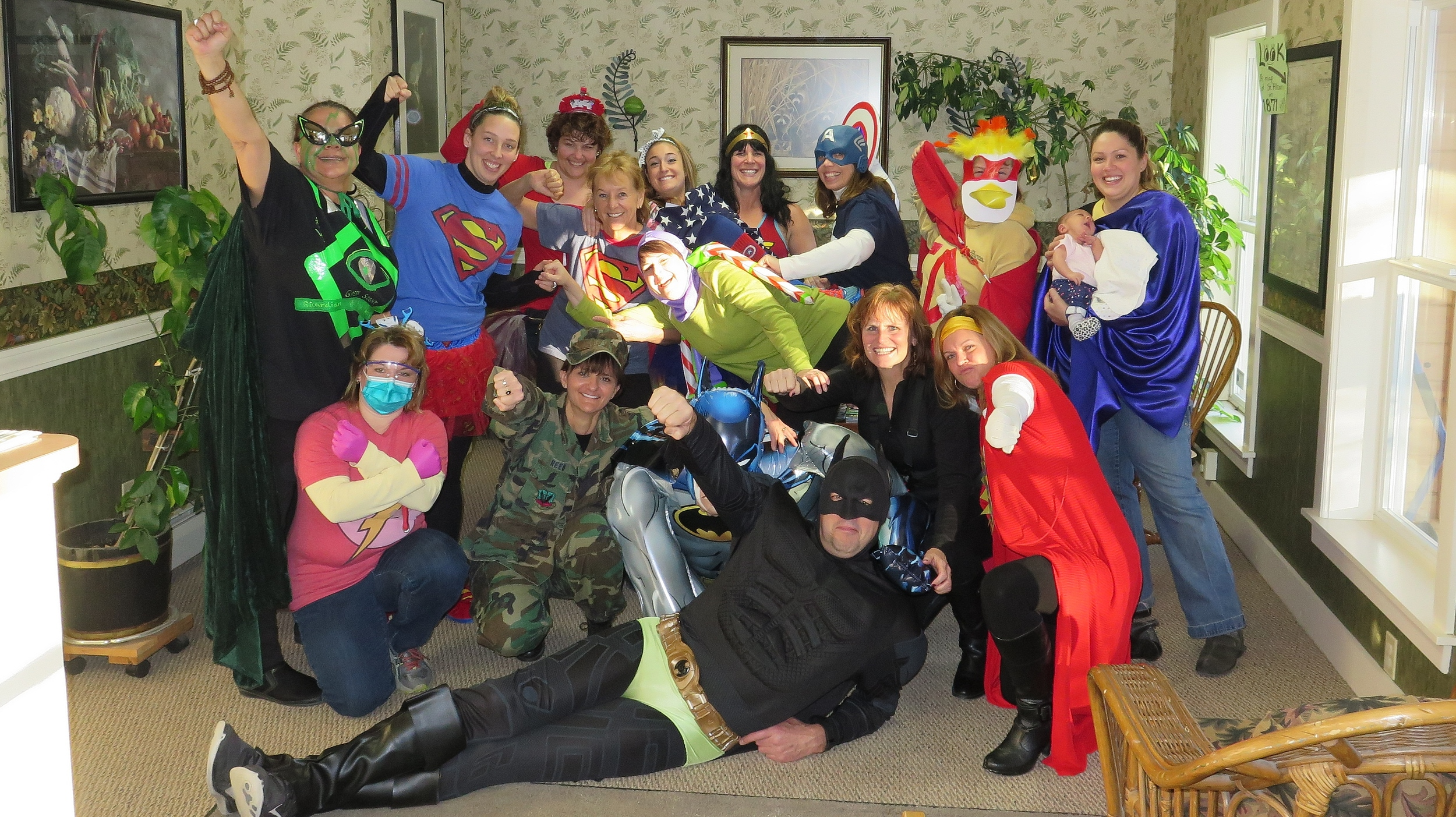 at a recent annual planning day, we all came dressed as our favorite super hero and spent the day in costumes learning and planning for the coming year.