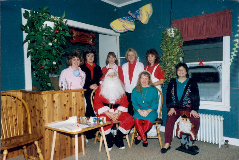 One of our earliest holiday team photos. circa 1990!