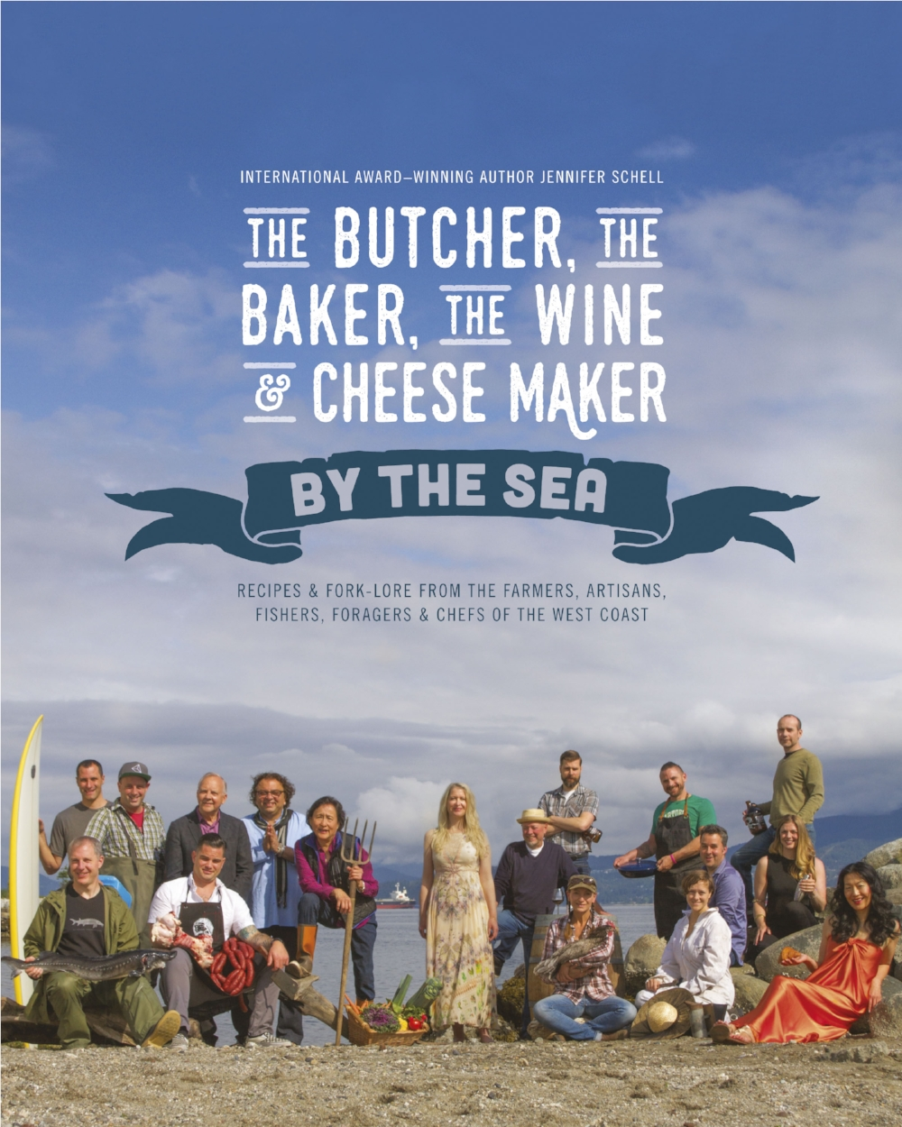 Laid out in the same style, the 2nd cookbook was a celebration of the community on BC's beautiful West Coast.