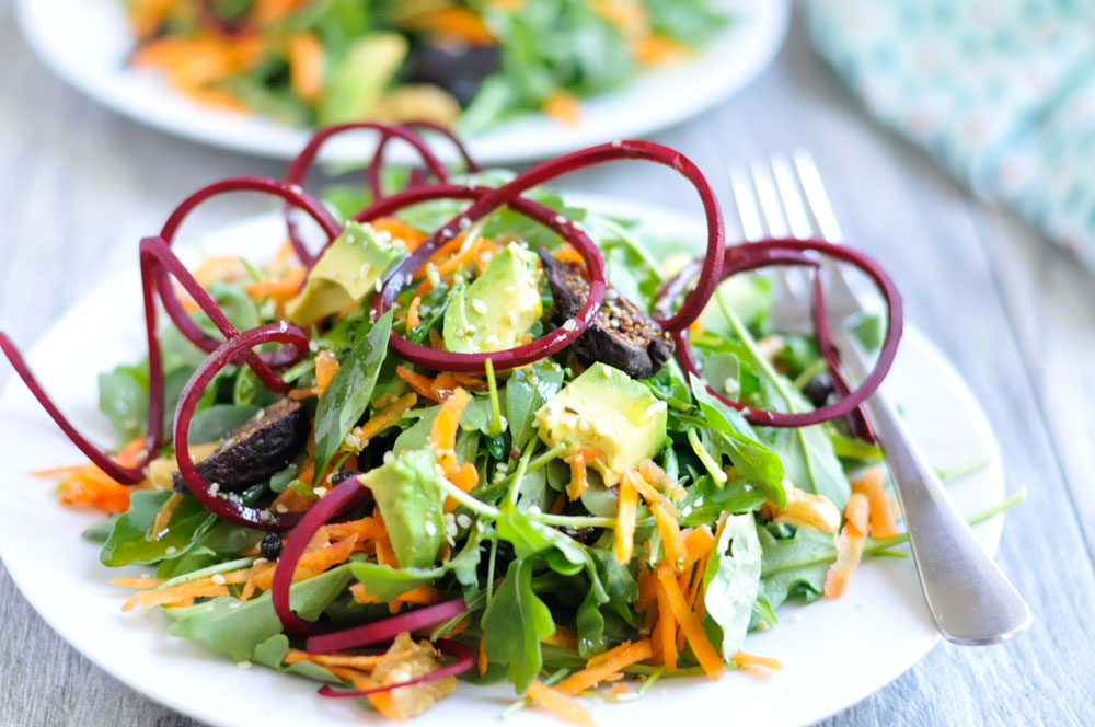 Energizing Bliss Salad with Beets, Avocado, and Basil. A vibrant, healthy salad recipe that's naturally gluten-free and dairy-free.