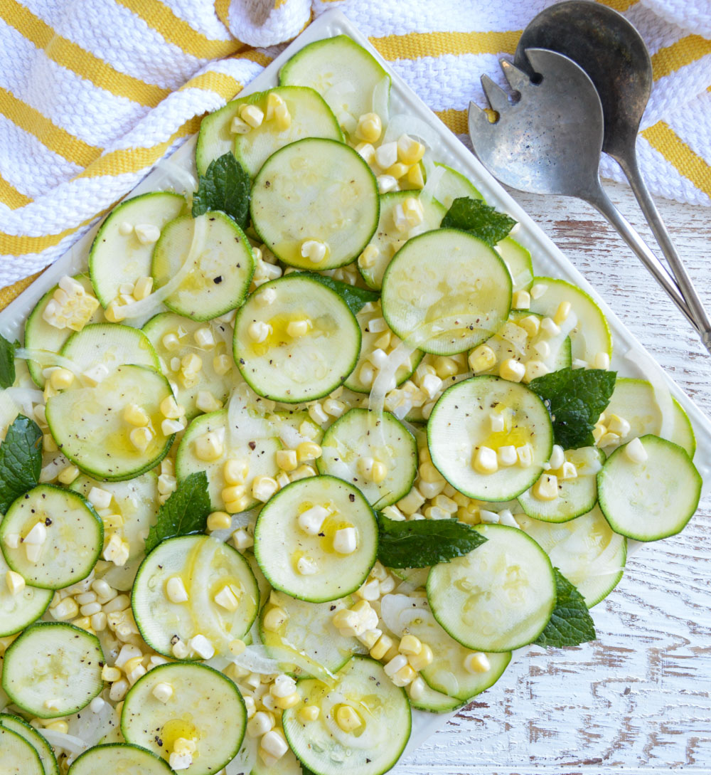 Healthy Recipes for Labor Day, Gluten-Free, Dairy-Free: Corn and Zucchini Salad