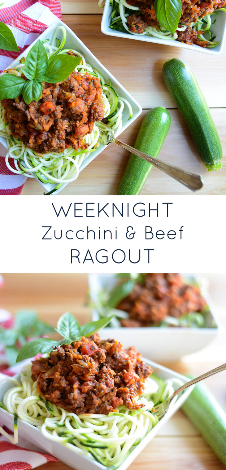 A tasty, quick and simple sauce, this Weeknight Zucchini and Beef Ragout is full of garden vegetables and will be a hit with the family. Naturally gluten-free and dairy-free and kid-friendly!
