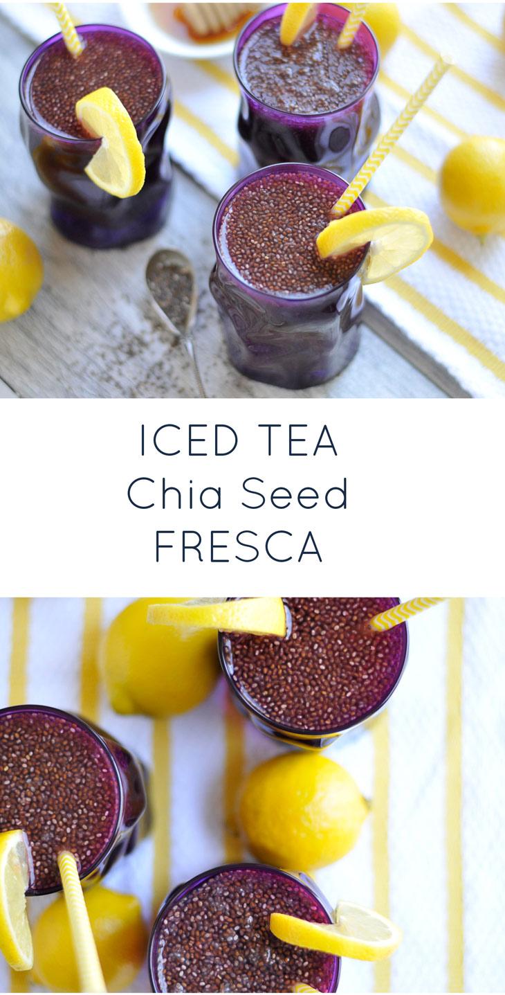 Chia Seed Iced Tea Fresca. A healthy, refreshing summer drink!