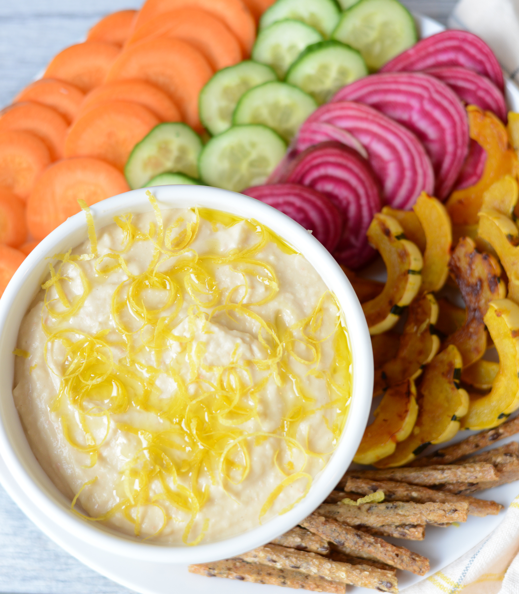 Simple Lemony White Bean Dip. An easy, healthy, real food appetizer, dip, or snack. Naturally gluten-free, dairy-free, and nut-free. realfoodwholelife.com.