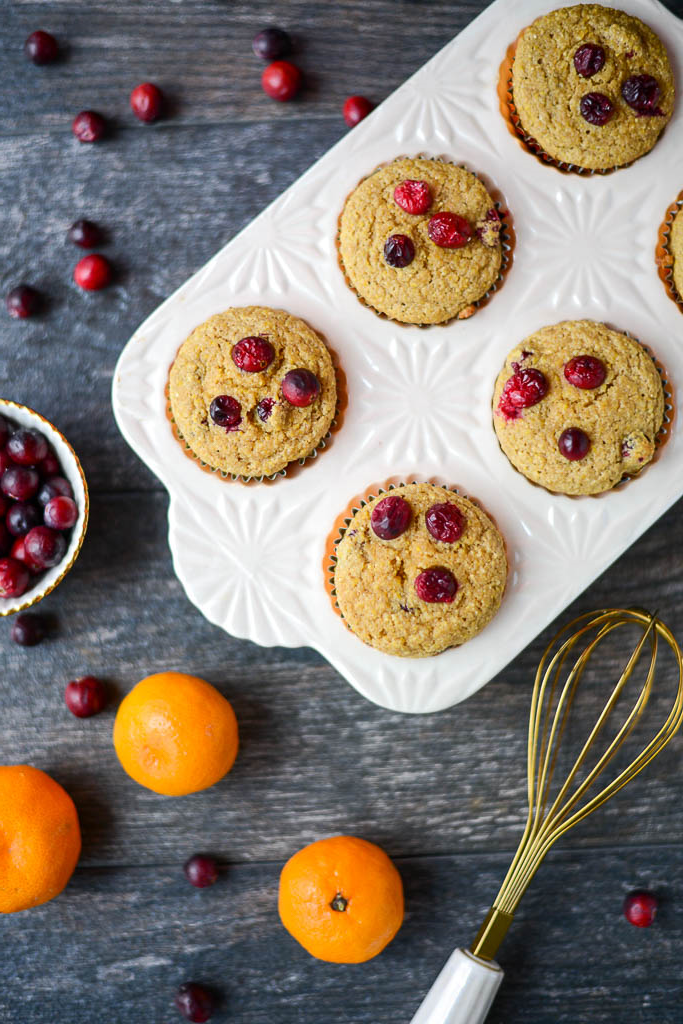 One-Bowl Cranberry Orange Muffins, a simple, healthy, real-food recipe perfect for breakfast or a snack. Naturally gluten-free, dairy-free, and refined sugar-free.