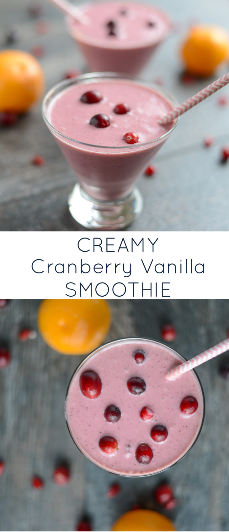 This powerhouse Creamy Cranberry Vanilla Smoothie is packed with good-for-you ingredients and tastes like a decedent treat. The perfect smoothie to kick off your morning or to sip on as an afternoon snack! Naturally gluten-free, dairy-free, and refined sugar-free.