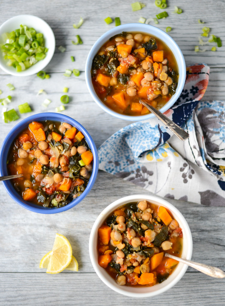 10-Ingredient Slow Cooker Vegetable and Quinoa Stew is a hearty, vegetarian meal that's easy to make and completely satisfying. An easy, nourishing real food recipe.