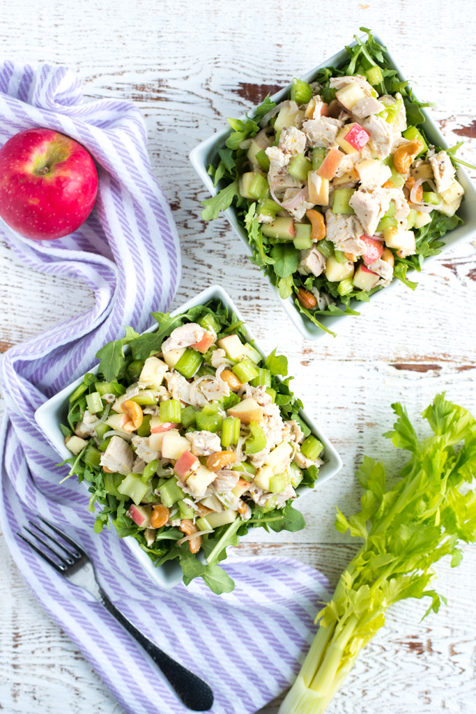 One-Bowl Harvest Chicken Salad (Dairy-free, Mayo-Free) is a fresh, bright recipe, perfect for lunch or dinner.