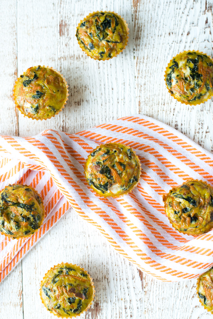 Your answer to a quick, easy, healthy breakfast, Make-Ahead Kale and Sweet Potato Egg Cups are packed with veggies and protein, all wrapped in one portable little package!