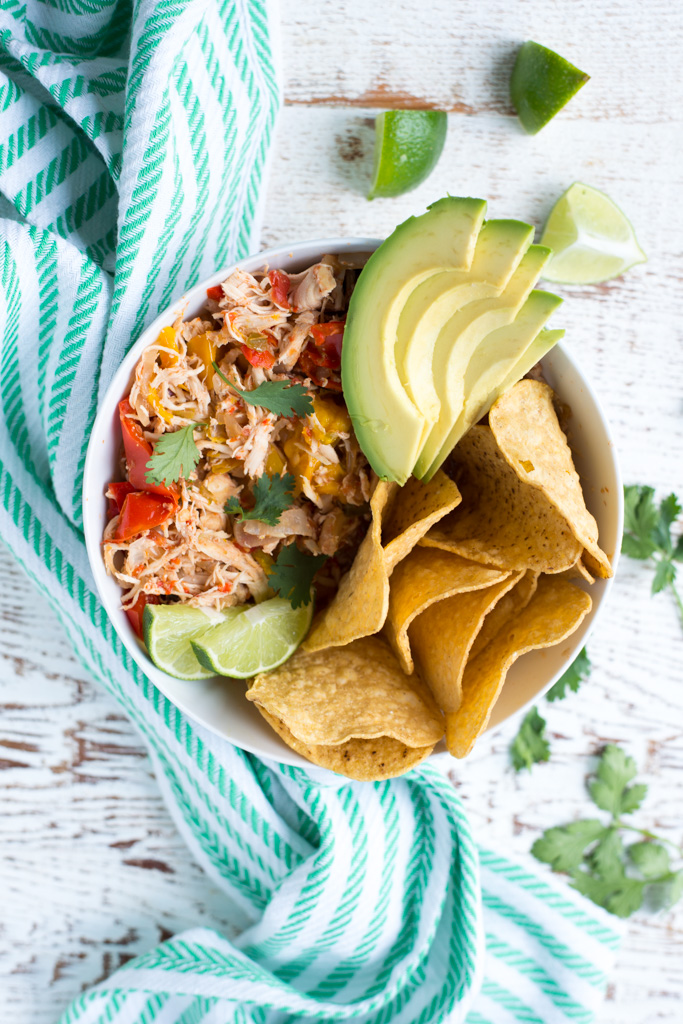 The perfect recipe for when you're short on time but still want a delicious real food dinner, 5-Ingredient Slow Cooker Fajita Salsa Chicken is a snap to prep and requires just a handful of ingredients.