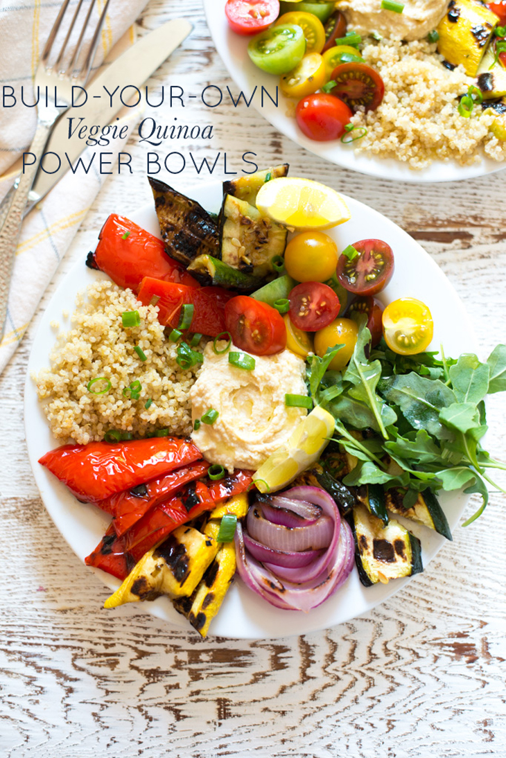 Super fresh and so versatile, Build-Your-Own Veggie Quinoa Power Bowls are simple to prepare and packed with flavor.