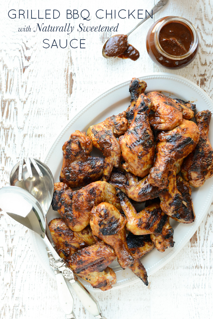 A summer classic with a real food spin, Grilled BBQ Chicken with Naturally Sweetened Sauce is simple to make and a total crowd pleaser.