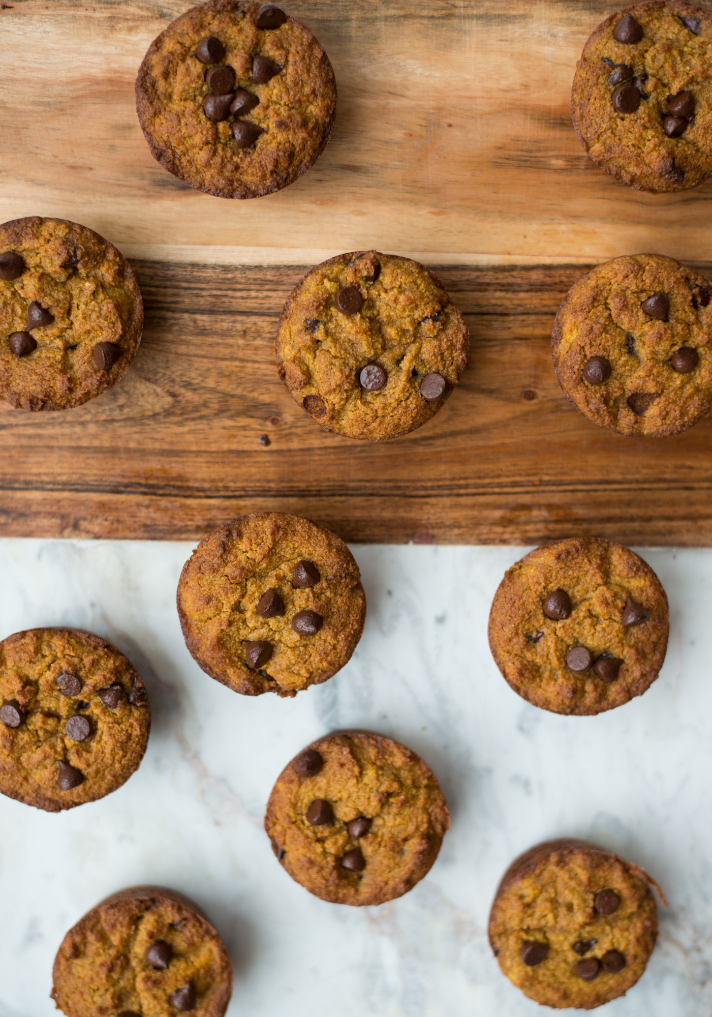 One-Bowl Pumpkin Chocolate Chip Muffins are naturally grain-free, dairy-free, gluten-free and naturally-sweetened. A health muffin recipe that's simple to make and tastes amazing. #realfoodwholelife #realfoodwholeliferecipe #glutenfree #dairyfree #healthyrecipe #paleo #paleorecipe #grainfree #cleaneating #muffin #healthymuffin #pumpkin #pumpkinrecipe #pumpkinspice #fall #fallrecipe