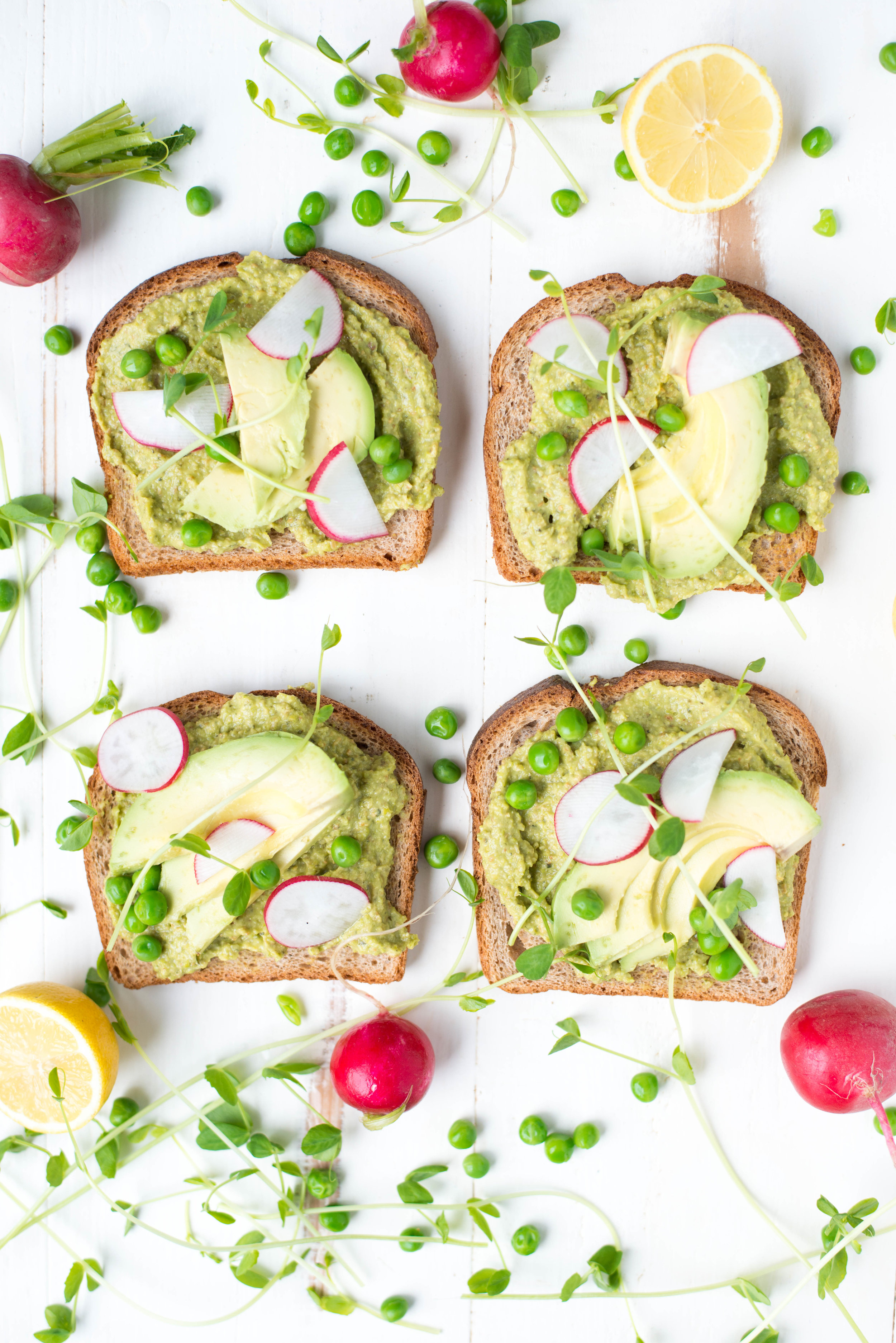 Creamy, dreamy, and packed with protein, Sweet Pea Power Pesto Avocado Toast is easy to whip up and perfect for a quick lunch or festive brunch.