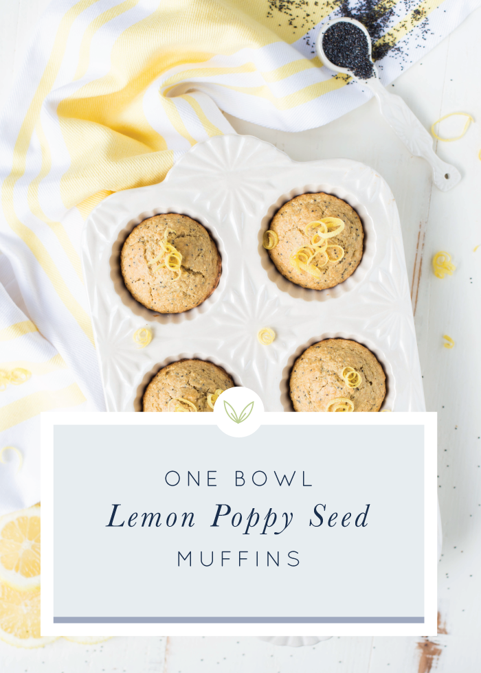 Light, fresh, and bursting with flavor, One-Bowl Lemon Poppy Seed Muffins are easy to make and completely delicious! Naturally sweetened, gluten-free, and dairy-free, too.