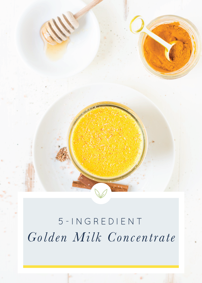 Simple to make ahead, 5-Ingredient Golden Milk Concentrate is packed with nourishing ingredients and is so delicious!