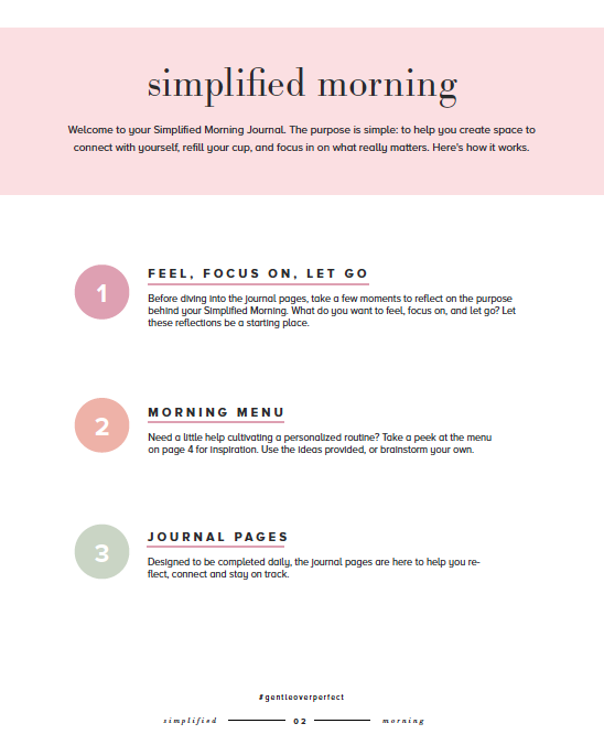 Simplified Morning Journal
