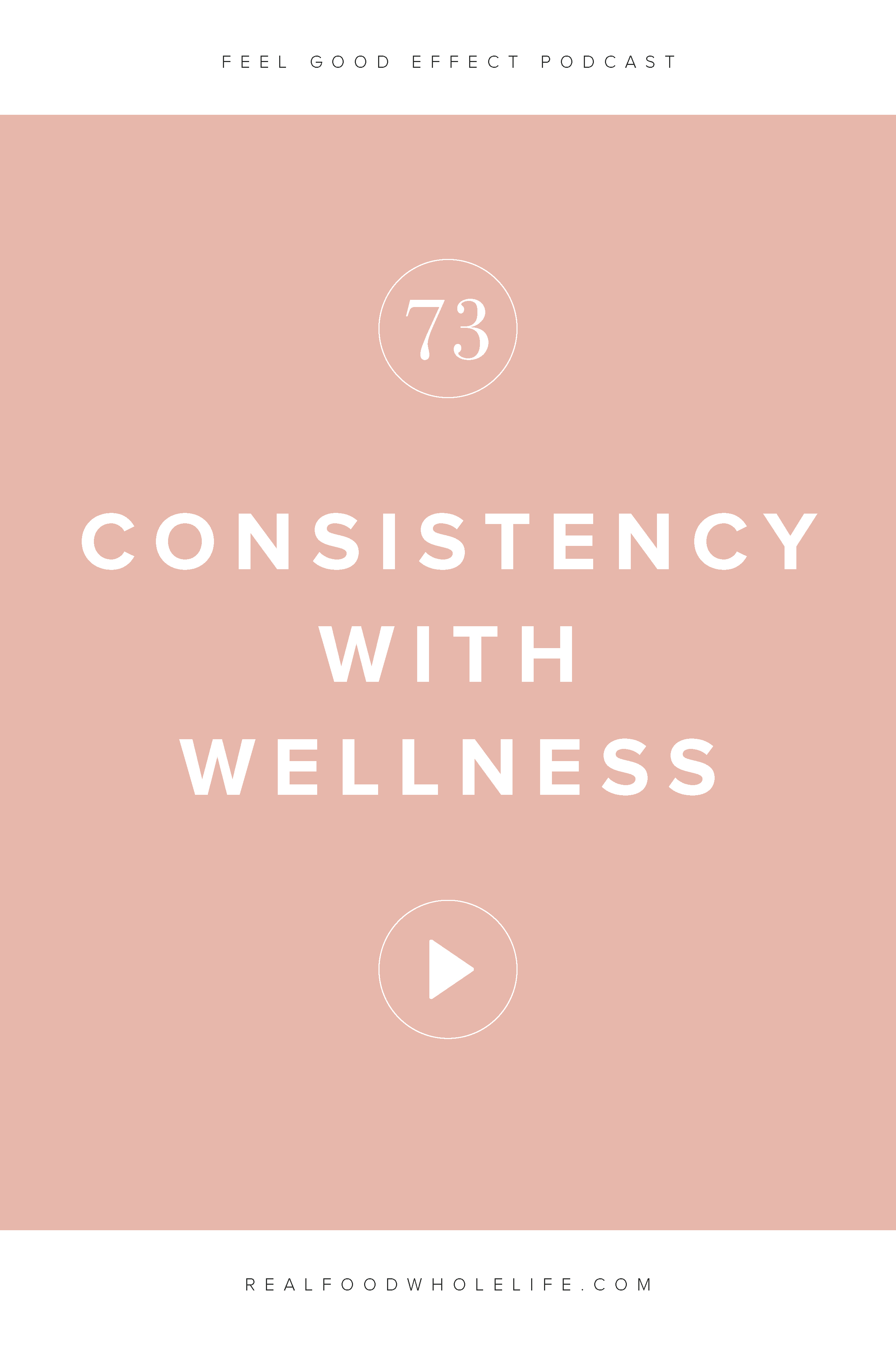 The Secret to Consistency with Wellness, and episode from the Feel Good Effect podcast. Listen for more on how to make your wellness goals sustainable. #realfoodwholelife #feelgoodeffect #healthy #wellnesspodcast #podcast #gentleisthenewperfect #resolution