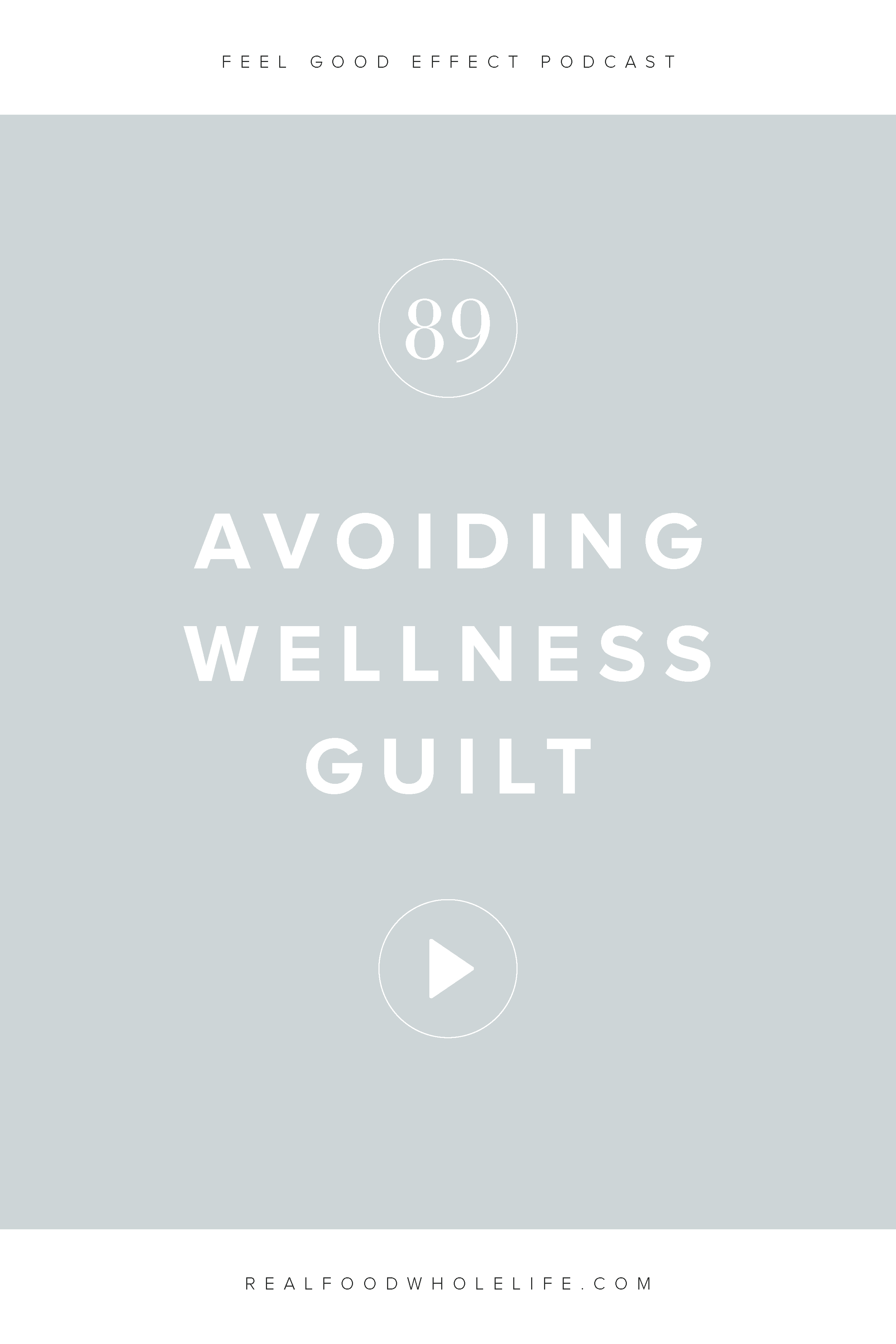 From nutrition to exercise to everything in between, it's so easy to feel overwhelmed and guilty about all the conflicting information in the wellness field. In this episode about the secret to avoiding wellness guilt., we'll talk about how to sift through all that information to find a way to wellness that will work for you. #realfoodwholelife #feelgoodeffect #wellness #podcast #gentlewellness #gentle #gentleisthenewperfect #diet #realfood #livewell #healthyeating