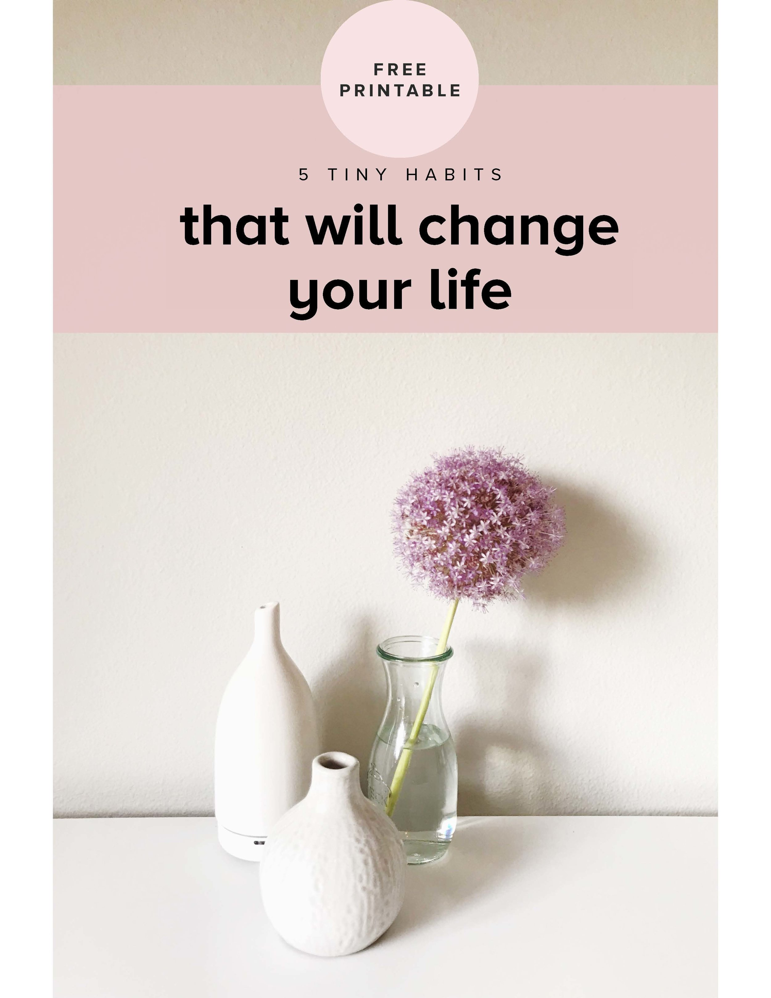 Free Guide: 5 Tiny Changes that Will Change Your Life