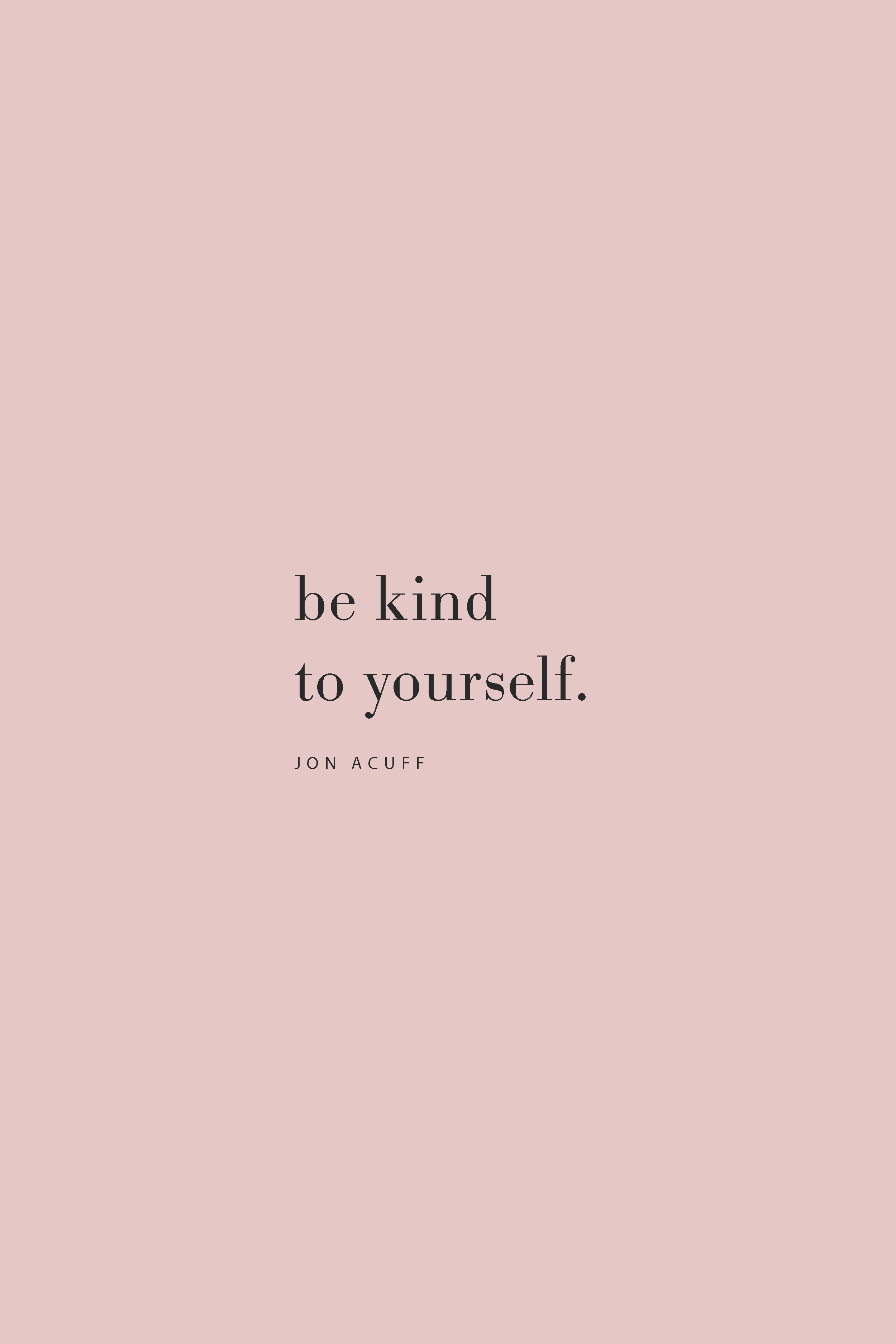 Quote from Jon Acuff on the Feel Good Effect Podcast on being kind to yourself. #realfoodwholelife #feelgoodeffect #kindness #selfcare #productivity