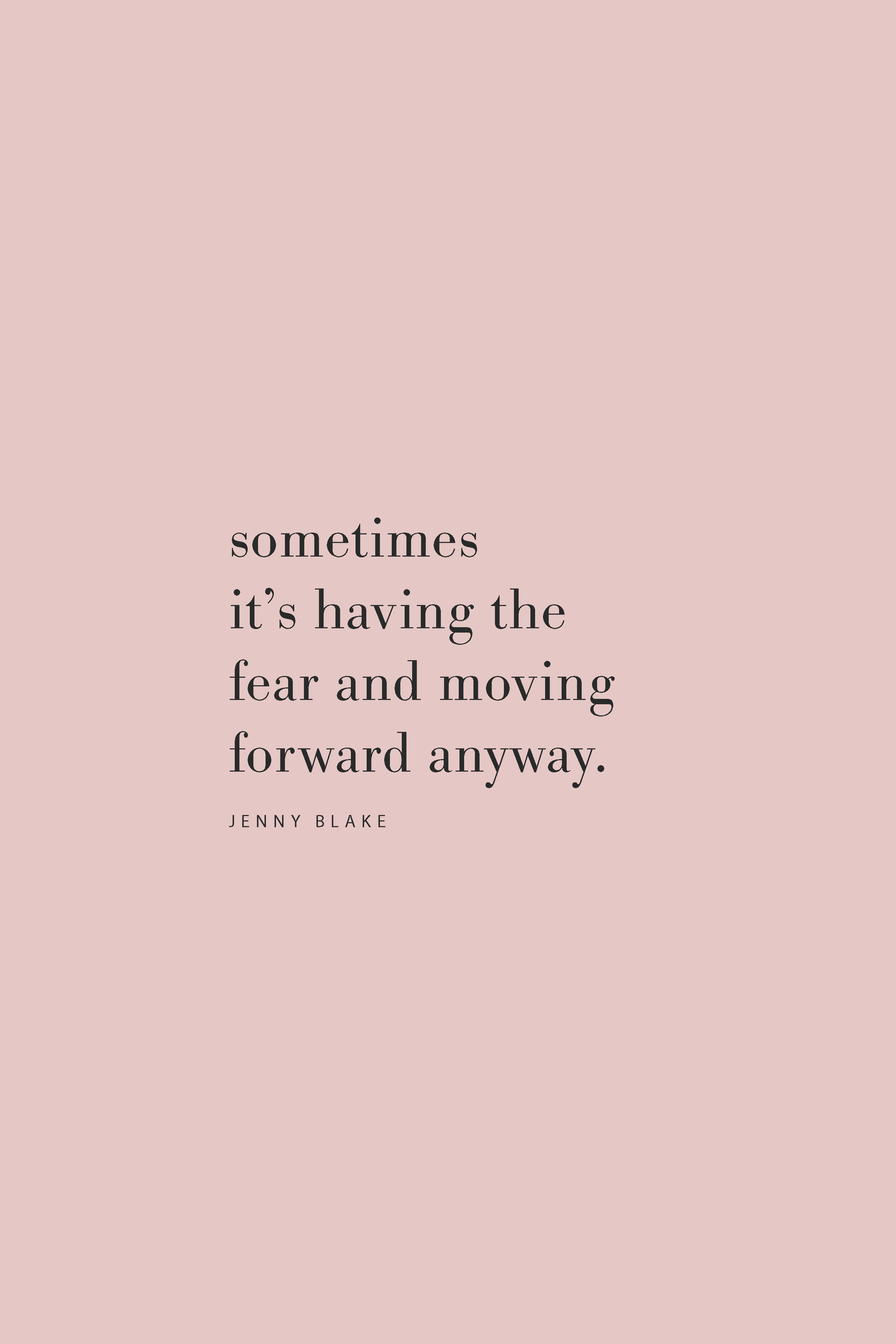 Quote from Jenny Blake on the Feel Good Effect Podcast about fear and moving forward. #realfoodwholelife #feelgoodeffect #podcast #resilience #productivity