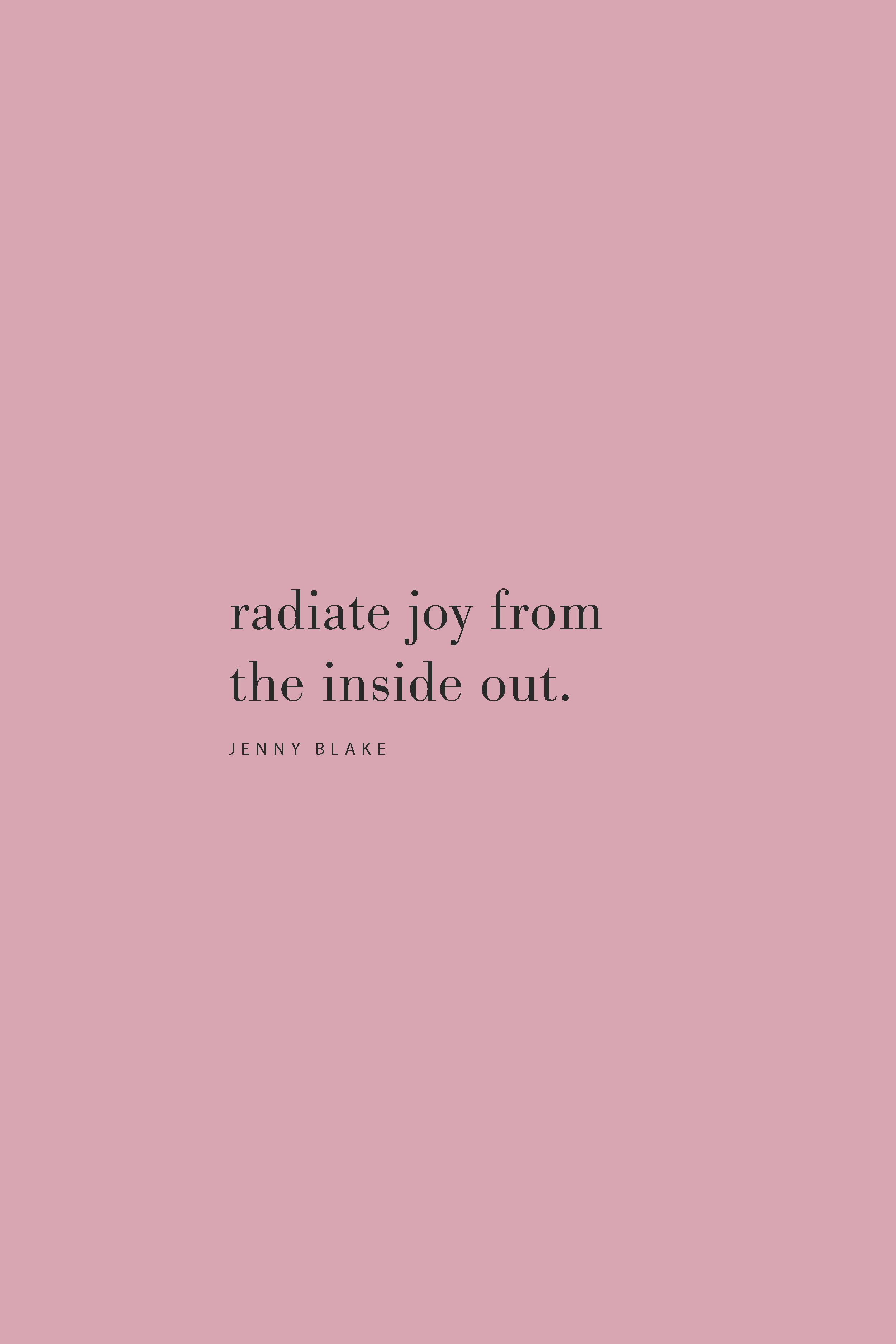 Quote from Jenny Blake on the Feel Good Effect Podcast on radiating joy. #realfoodwholelife #feelgoodeffect #podcast #resilience #joy