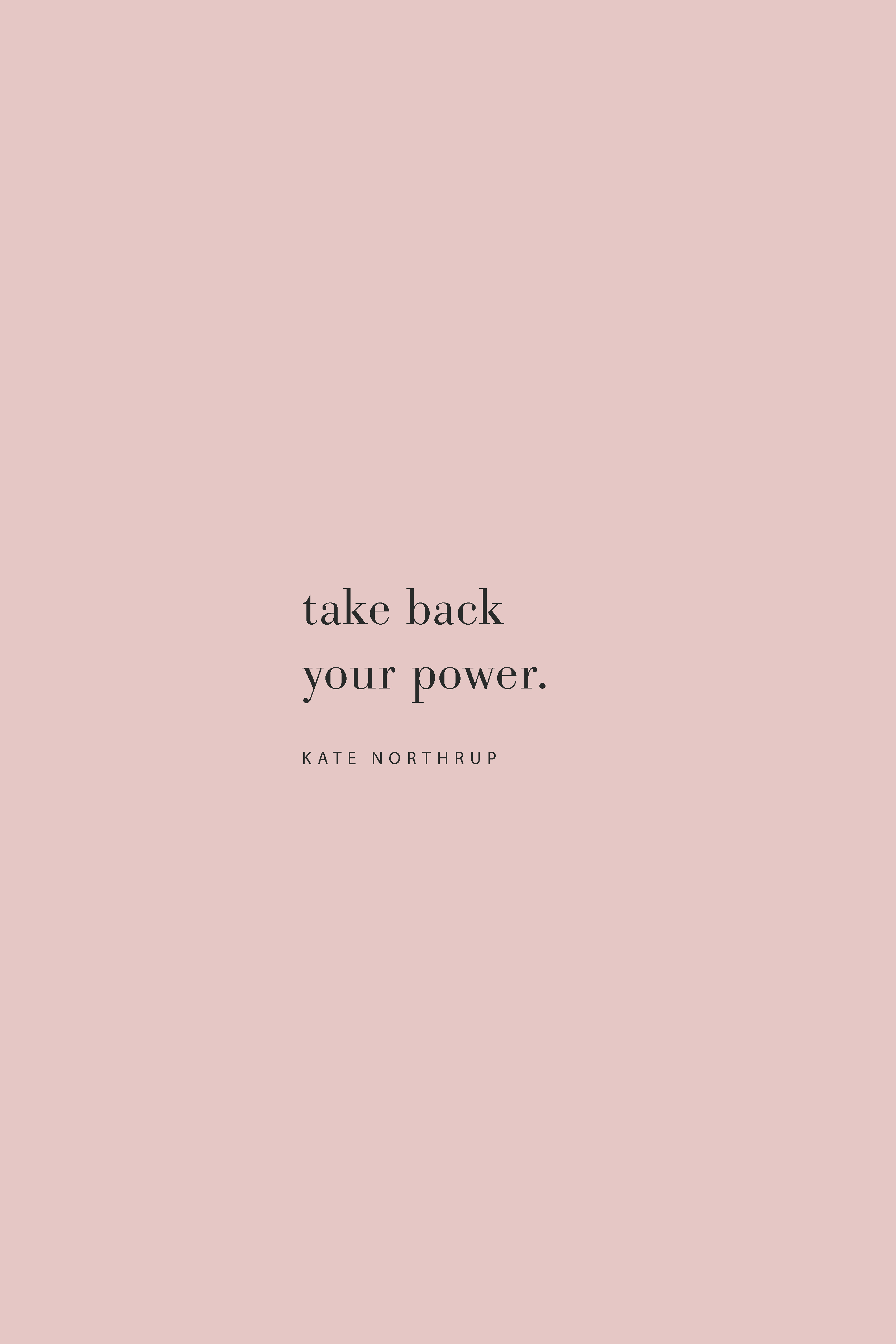 Quote from Kate Northrup on the Feel Good Effect Podcast on taking back your power. #realfoodwholelife #feelgoodeffect #podcast #purpose #goals
