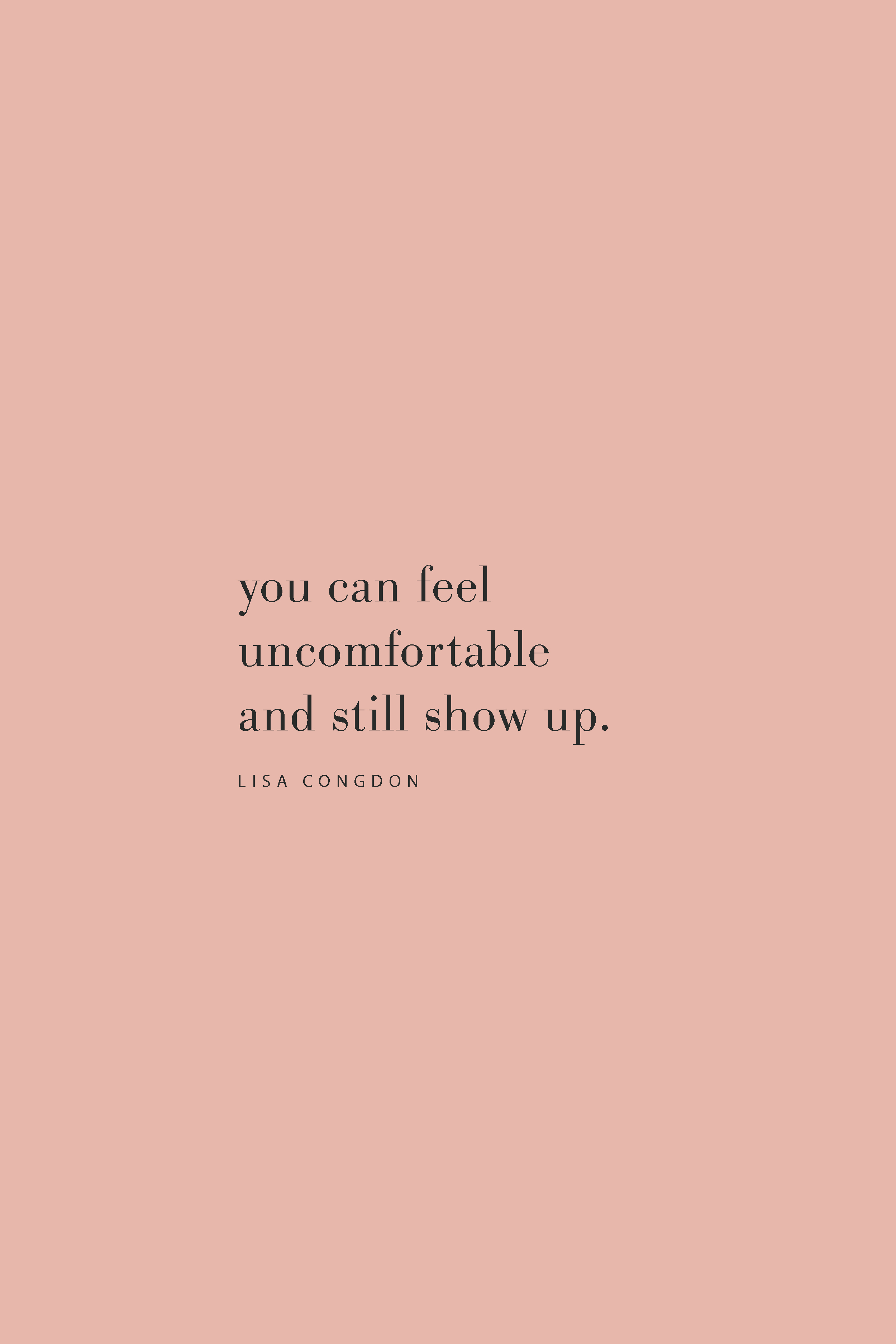 Quote from Lisa Congdon on showing up on the Feel Good Effect Podcast.  #realfoodwholelife #feelgoodeffect #podcast #purpose #resilience #productivity